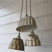 vintage kitchen items as light fixtures jelly mould for exle