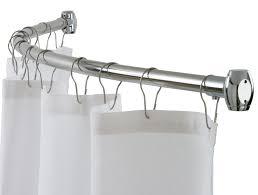 Bathroom Curtain Rod Walmart by Bathroom Curved Shower Curtain Rod Curved Rods Shower Rods