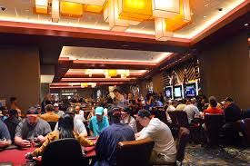 Casino Patrons Play At Maryland Live Casinos New Poker Room Courtesy Of