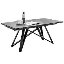 esszimmer tischgruppe industrial design amsterdam 119 ausziehtisch schwarz polsterstühle kunstleder in taupe