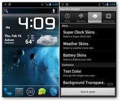 beautiful wid s android weather clock sense boldface