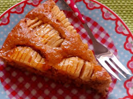kuchen apfel mandel kuchen mit aprikosenglasur