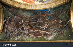 Jose Clemente Orozco Murales Hospicio Cabaas by Orozco Mural Spanish Invasion Mexico Cabanas Stock Photo 11274709