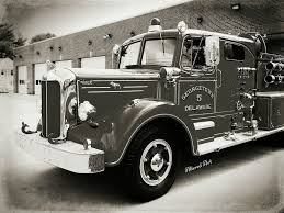 100 Black Fire Truck Black White Mack Fire Engine Delaware Department