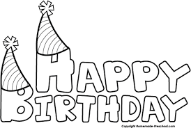 Birthday black and white free happy birthday clipart