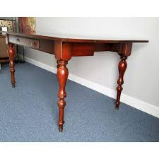 Ethan Allen Mahogany Dining Room Table by Ethan Allen Mahogany Sofa Table Desk Chairish