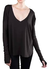 amazon com yoga clothing for you spandex oversized v neck shirt