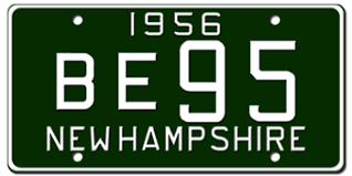 New Hampshire License Plates Vanity Embossed New Hampshire
