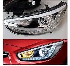 hyundai accent headlights assembly hid headlights led headlights