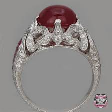 deco ruby and ring antique ruby rings deco ruby engagement ring