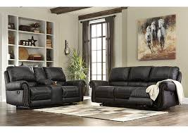 Furniture World NC Milhaven Black Power Reclining Sofa and