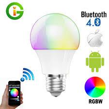 4 5w 6w 7 5w bright rgb wireless bluetooth smart led light bulb