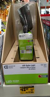 mercial Electric LED multicolor Spike Light Home Depot $12 YMMV