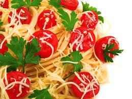 cuisine cherry spaghetti with burst cherry tomatoes recipe epicurious com