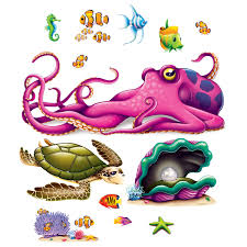 Halloween Scene Setters Canada by Sea Creature Jumbo Wall Props 13 Pk Party Supplies Canada Open A