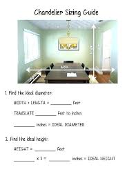 Dining Room Chandelier Size Calculator Foyer For