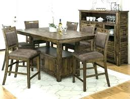 Farmhouse Dining Room Table Set Pub Style Kitchen 6 Chairs