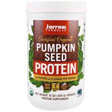 Shelled Pumpkin Seeds Protein by Jarrow Formulas Certified Organic Pumpkin Seed Protein 16 Oz
