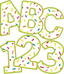 Confetti Bulletin Board Letters for Sale by SmileyMe