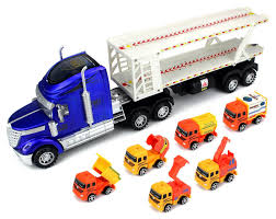Amazon.com: Super Construction Power Trailer Children's Friction Toy ... Truck Trailer Toy First Gear Peterbilt 351 Day Cab With Dual Dump Trailers Farmer Farm Tractor And Kids Set Onle4bargains 164 Scale Model Truckisuzu Metal Diecast Trucks Semi Hauler Kenworth And Mack Unboxing Big 116 367 W Lowboy By Horse Hay Biguntryfarmtoyscom Bayer Equipment Custom Bodies Boxes Beds Amazoncom Daron Ups Die Cast 2 Toys Games A Camping Pickup