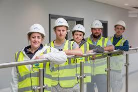 100 Wynne Construction Trio Of Coleg Cambria Pupils Celebrate Successful Work