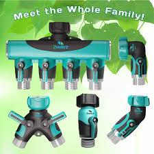 Garden Hose Faucet Extender by 2wayz Garden Hose Splitter Hose Nozzle With Heavy Duty Metal Body