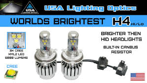 worlds brightest all in one turbo h4 led lights