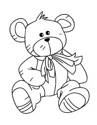 Teddy Standing Rain Picture Bear Coloring Page Pages For Toddlers Preschoolers Colouring Pictures To Print