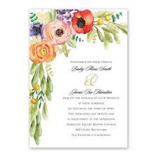 Autumn And Fall Wedding Invitations Wildflower Burst Foil Invitation