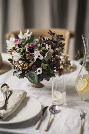 OnceWed Table Settings With Floral Arrangement