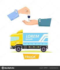 100 Renting A Truck Hand Passing Key Process Of Buying Stock Vector