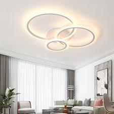 wohnzimmer led deckenleuchte acryl runde ringe schlafzimmer küche panel le einfache moderne innen leuchten mit fernbedienung