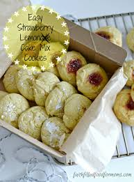 Easy Strawberry Lemon Cake Mix Cookies • Faith Filled Food for Moms