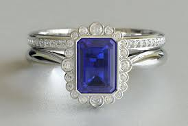 Emerald Cut Sapphire Engagement Ring