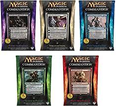 Premade Commander Decks 2015 by Magic The Gathering Mtg Commander 2014 Complete