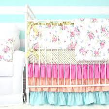 Aqua And Coral Crib Bedding by Crib Bedding Collection Coral Coral Aqua Floral Crib Bedding