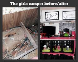 We Remdeled An Old 1974 Caveman Travel Trailer For Our Teenage Girls Remodeled Refabriced