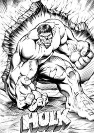 Incredible Hulk Smash Coloring