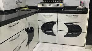 White Black Kitchen Design Ideas by Black U0026 White Modular Kitchen Design Ideas Kolkata Ashiana