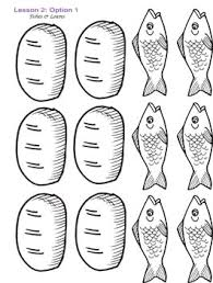 Loaves And Fishes Coloring Page 20 Color Sheet Of 2 Fish 5 L