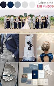 Navy Blue Silver Grey Wedding Colour Schemes And Palette