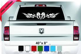 100 Ram Truck Decals Dodge Ram Emblem Decalrear Window Stickerdodge Ram Tribal Etsy