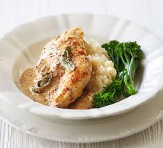 Mustard Sage Chicken With Celeriac Mash Recipe
