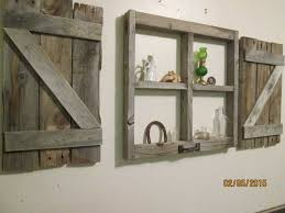 Rustic Little Window Frame With Shutters Regarding Decor Plans 6