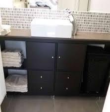 kallax bathroom vanity for small bathroom ikea hackers