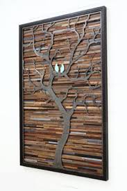 Wood Wall Art Made Of Old Barnwood And Natural Distressed Steel Different Sizes Available