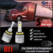 100 Ebay Commercial Truck H11 LED Headlight Bulbs Kit For 20082018 Freightliner Cascadia