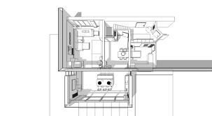 wohnzimmer mit kamin und küche grundriss 3d studio