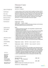 Daycare Job Resume Sample For Childcare Child Care Provider Worker