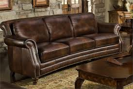 Traditional Brown Leather Sofa Design